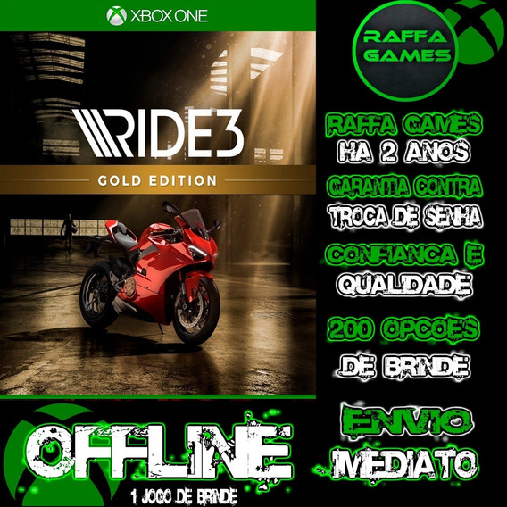 Ride 3 Gold Edition Xbox One Midia Digital Offline + Brinde