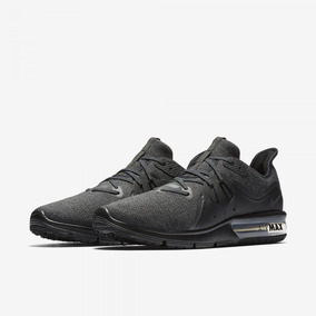 Tênis De Corrida Masculino Nike Air Max Sequent 3 Black Orig
