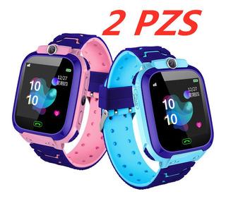 2 Pzs Reloj Para Niños Con Gps Teléfono Inteligente Cámara