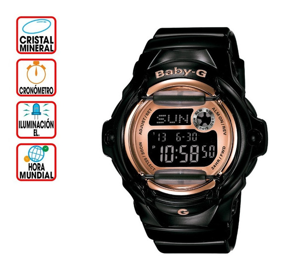Reloj Casio Outlet Baby-g Splash Bg-169g-1 Pinkpalletcolors