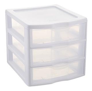 Cajonera Con 3 Cajones De Esterilite Plástico Blanco 1