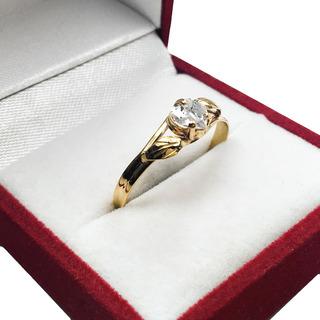 Anillo De Oro Con Piedra De Corazon Regalo Dia De La Madre