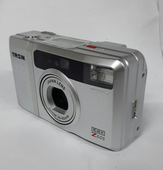 Câmera Maquina Analógica Tron Lcd Z60s Fotografica Lente