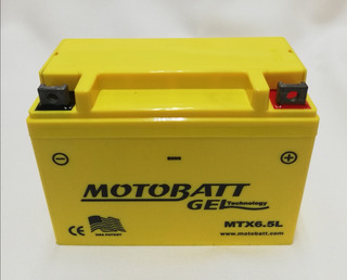 Bateria Para Moto Gel 12n6.5l-bs Marca Motobatt Ft125 125z Dm125 Dt125 Rc150 Ft150 S / Ts / Grafito