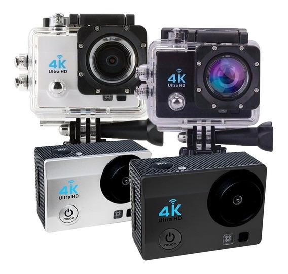 Action Cam Câmera Sports Ultra Hd Wi-fi 4k Tela Lcd A Prova