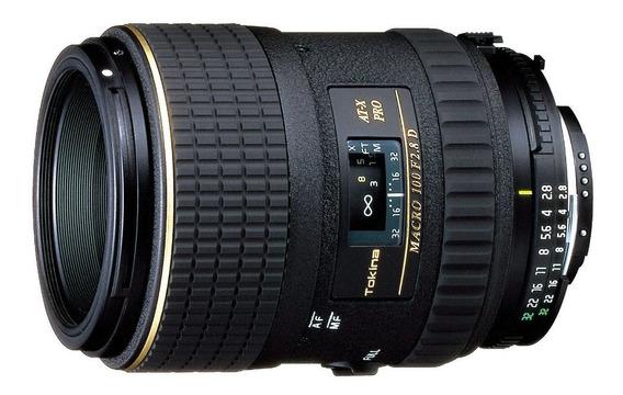 Lente Macro 1:1 Tokina 100mm F2.8 Pro D Fx At-x M100 Nikon