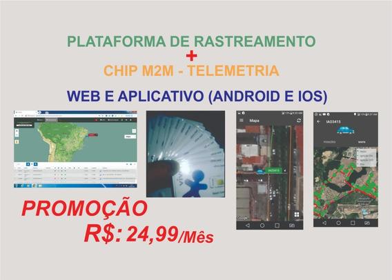 Plataforma De Rastreamento + Chips M2m