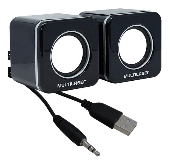 Caixa / Caixinha De Som Multilaser 4w Usb P2 Pc Notebook