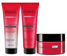 Combo Match Sos Reconstrução Shampoo, Condicionador, Máscara