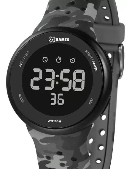 Relógio X-games Masculino Digital Camuflado Xmppd584 Pxgp
