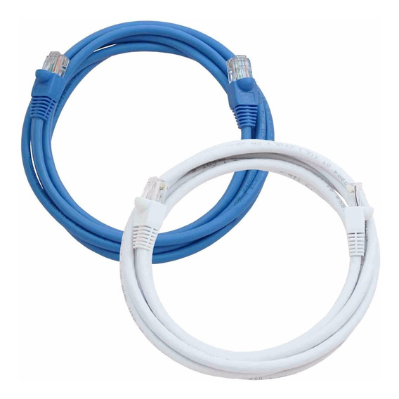 Cable Red Utp Rj45 Patchcord 3 Metros Cat 5e Kelyx