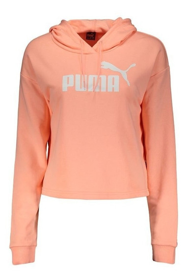Moletom Puma Essentials Cropped Feminino Rosa