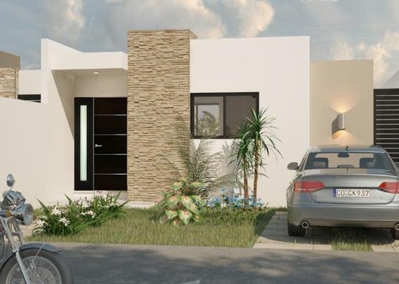 Casa En Venta En Merida, Residencial Dzitya Modelo De Un Piso