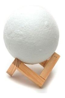 Lámpara Realista Veladora Forma De Luna Para Decoración Off!