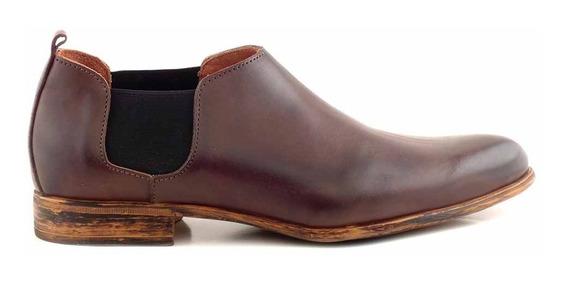 Zapato Hombre Briganti Cuero Mocasin Goma Vestir - Hccz01094