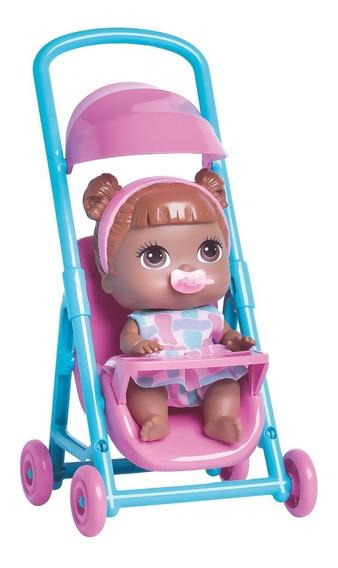 Boneca Babys Collection Mini Carrinho Negra - Super Toys