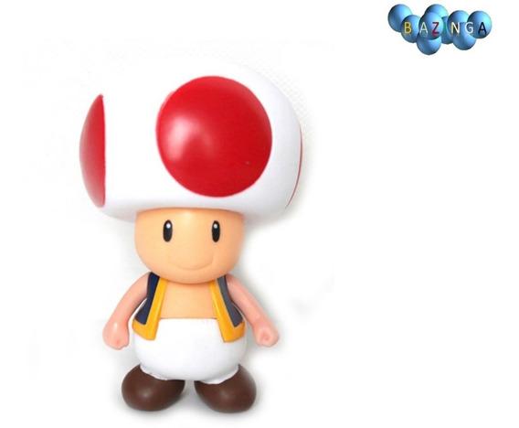 Boneco Toad Super Mario Cogumelo Action Figure - Novo