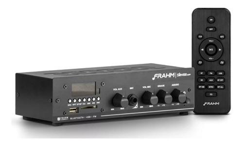 Imagem 1 de 5 de Amplificador Receiver De Som Ambiente Frahm Slim 1000 App G2