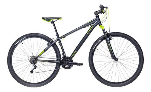 Imagen 1 de 2 de Mountain bike Mercurio Kaizer MTB  2020 R29 21v frenos v-brakes color negro mate/verde neón