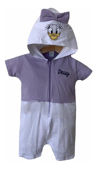Pañalero Algodon Con Gorro Bordado Disney Daisy