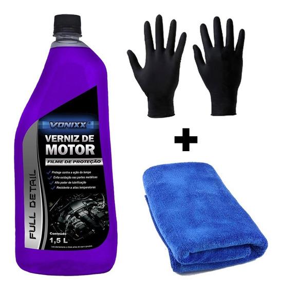 Verniz De Motor 1,5l + Luvas + Toalha O Melhor Preço Vonixx