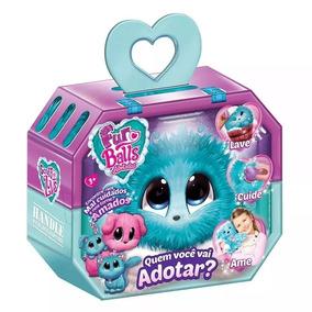 Pelúcia Fur Balls Adotados Surpresa Azul - Fun 8411-8