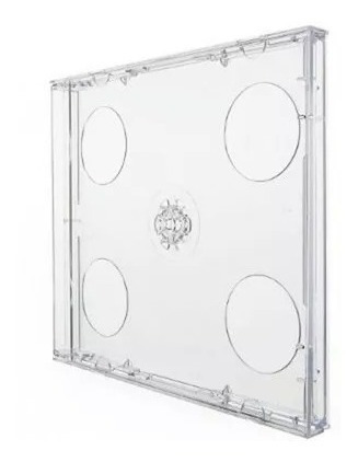 Capa / Caixinha / Estojo Cd Box Duplo Transparente 25 Uni