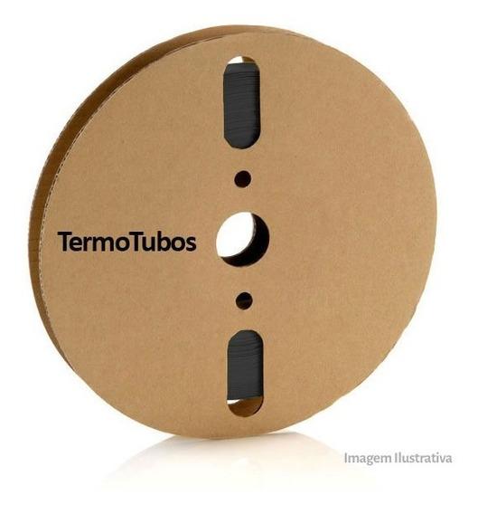 Tubo Termo Retrátil Espaguete Preto 8mm 20 Metros