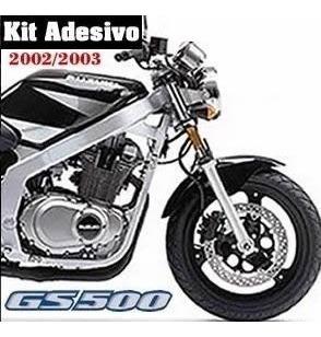 Adesivo Suzuki Gs 500e 2003 2004 Acabamento Brilho Anti Uv