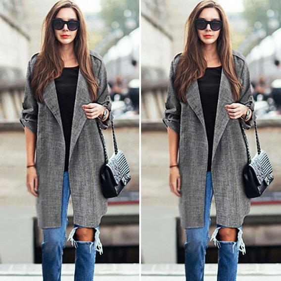 Moda Mujer Chaqueta Abrigo Juvenil Elegante Casual