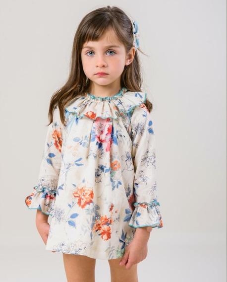Tierno Y Elegante Vestido Para Niña