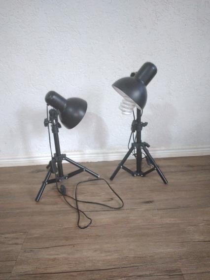 Suporte Tripe Pequeno Para Lâmpadas De Foto Estúdio Fotograf