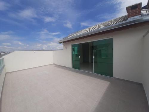 Cobertura Com 2 Dormitórios À Venda, 102 M² Por R$ 398.000 - Vila Homero Thon - Santo André/sp - Co1327