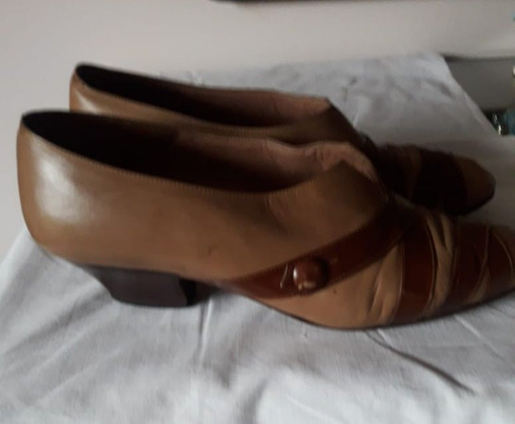 Zapato De Mujer Beige-tostado. N. º 36