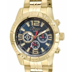 Relógio Condor Dourado Masculino Cronógrafo Covd54ar/4a + Nf