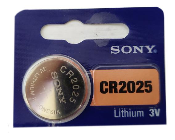 1 Pilha Tipo Botão Da Sony Nova Cr2025 Para Controle Remoto