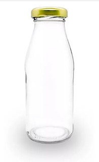 Botella Vidrio Jugo Leche Jalea 250 Cc C/tapa X 50 Unidades
