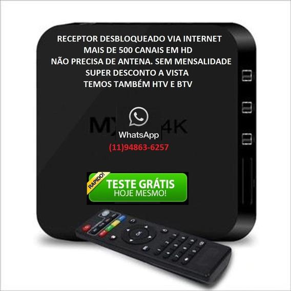 Receptor Tv Box Pro 5g + 4k + Youtube + Netflix E Sem Antena