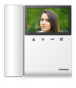 Kit Video Portero Commax 2 Monitores 4.3 Pulgadas 30m Cable