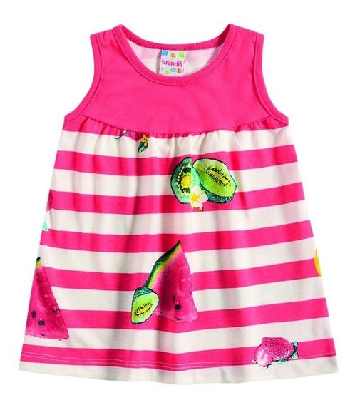 Vestido Infantil Para Bebê Em Malha Brandili Tropical