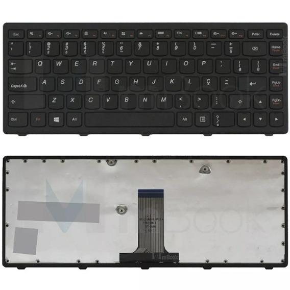 Teclado Para Lenovo Ideapad G400s C/ Moldura Preto Abnt2