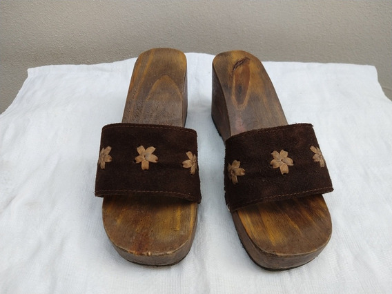 Calzado Con Plataforma De Madera