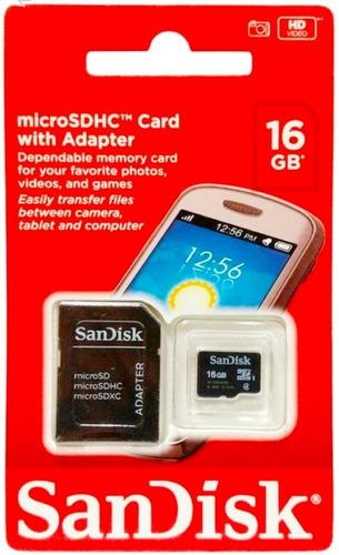 Imagem 1 de 2 de Cartão De Memória Micro Sd 16gb Sandisk 100%original Lacrado
