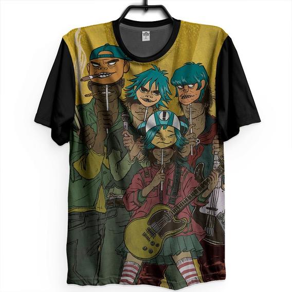 Camiseta Gorillaz Banda Desenho Camisa Tumblr Latin Simone