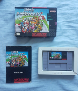 Mario Kart Con Caja Para Super Nintendo Snes