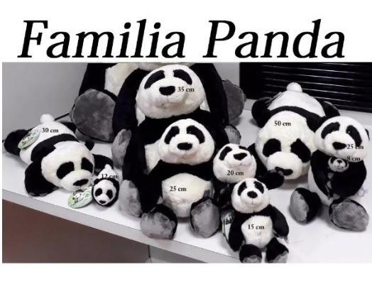 Urso Panda Família Completa Pelucia 8 Peças Da Casa Do Urso