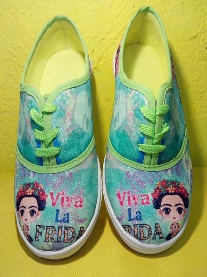 Tenis Frida Kahlo , Verde