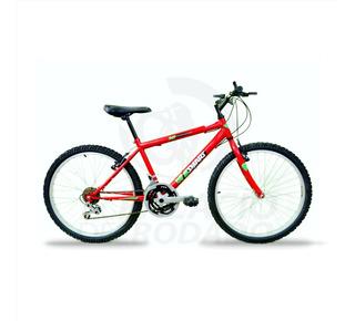 Bicicleta Mountain Bike Rodado 24 18v Acero M1