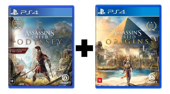 Assassins Creed Odyssey + Origins Ps4 Mídia Física Lacrados