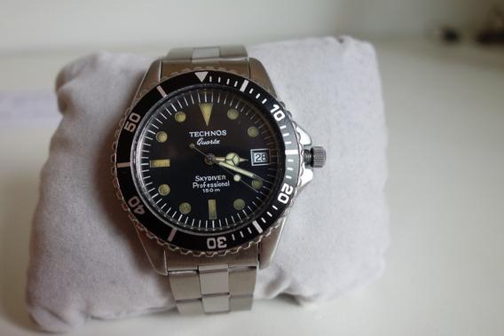 Relógio Technos Skydiver Vintage Submariner 150m Seiko